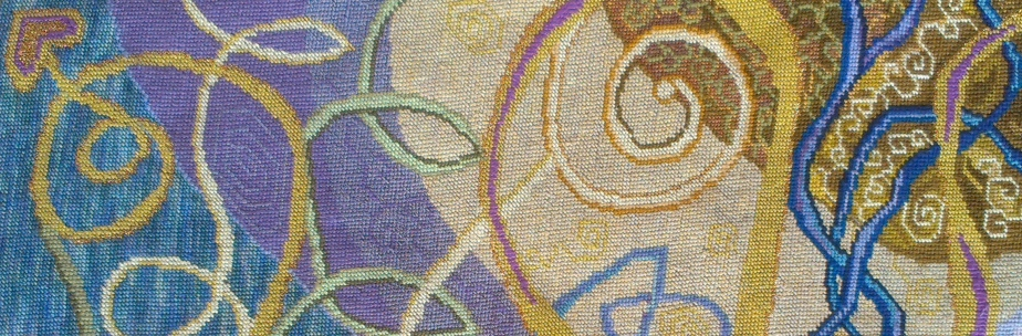 The Celtic Swirl isstitched…