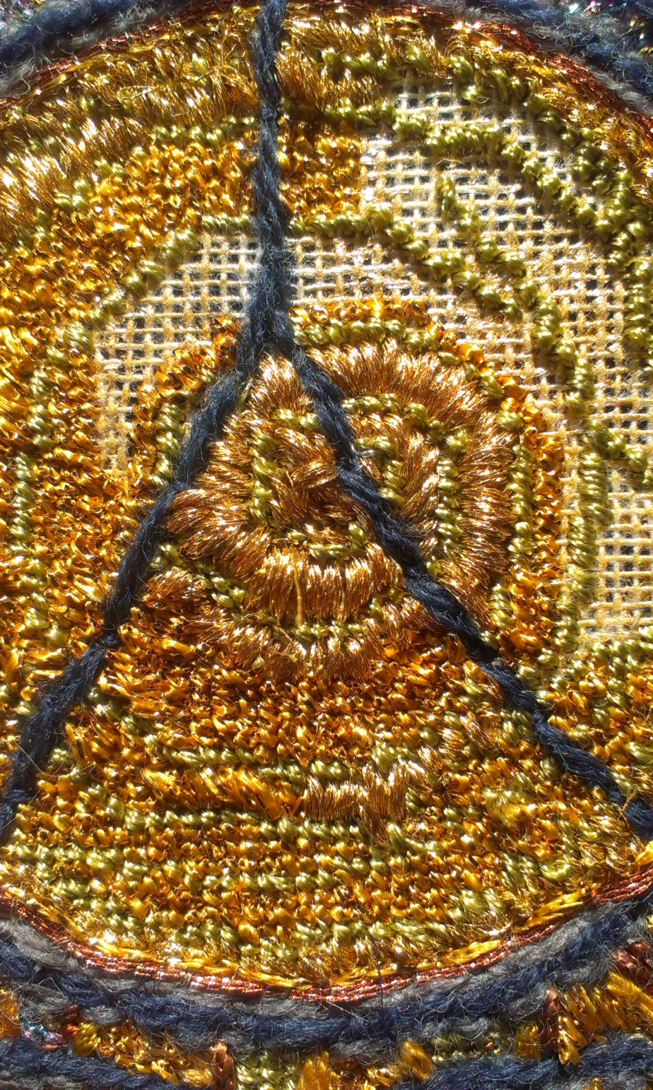 Gothic sun window nearly stitched…