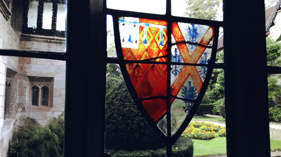 stained glass window at baddesley clinton